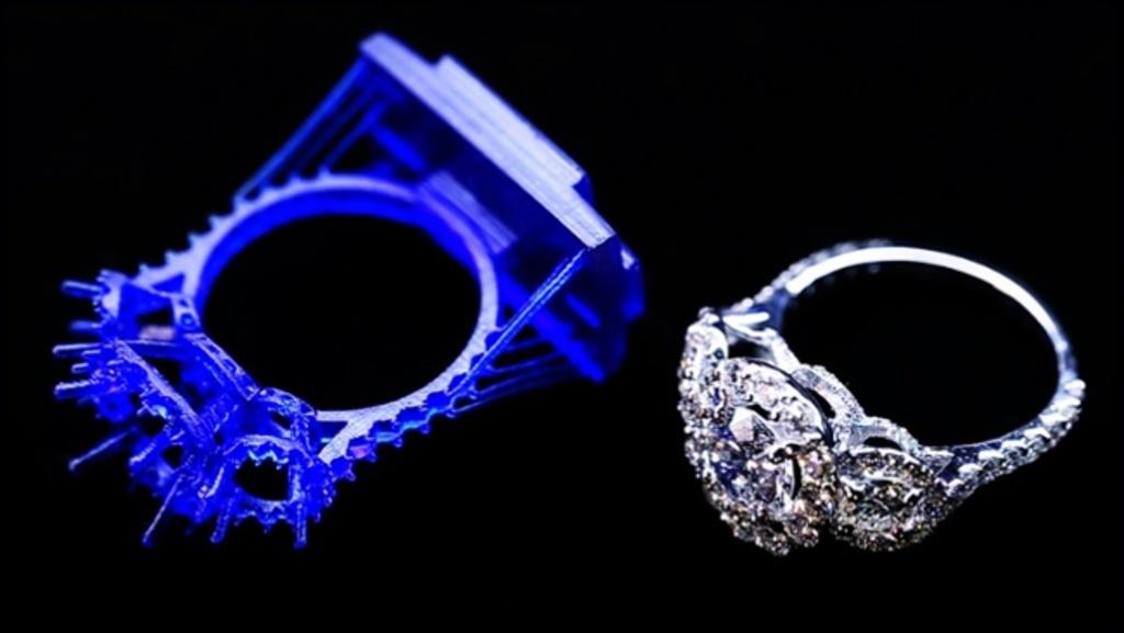 Восковая модель и готовое кольцо