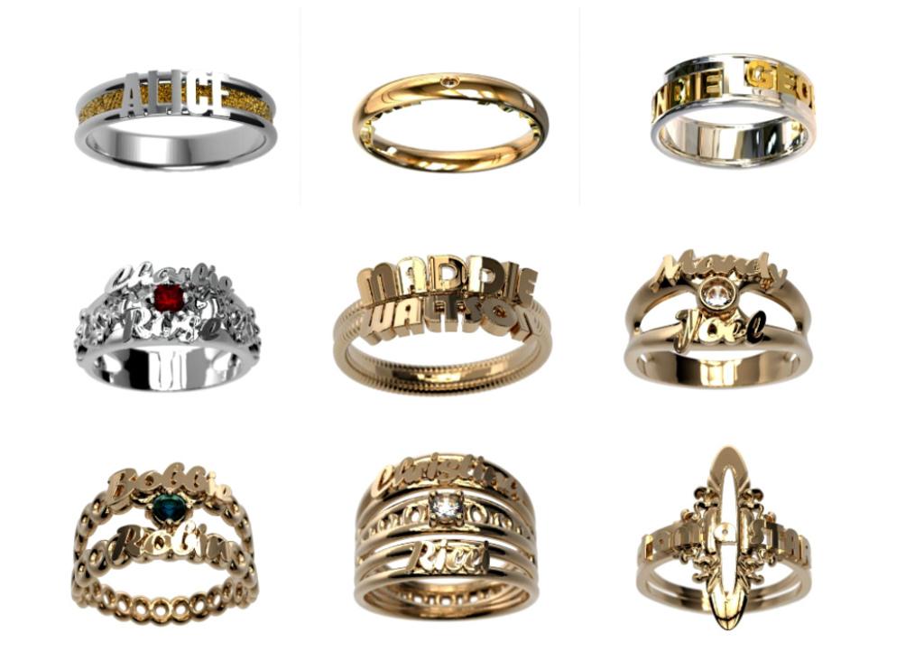 Ювелирные 3D кольца